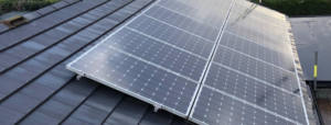 Re-roofing a solar panelled roof