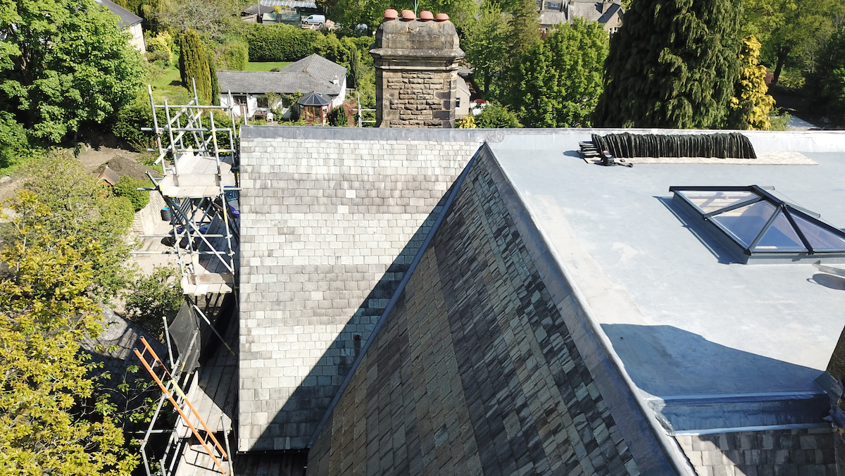 Re-roof of historic building