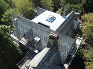 Mayfield re-roof of historic building